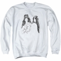 Aerosmith adult crewneck sweatshirt Draw The Line white