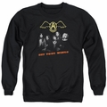 Aerosmith adult crewneck sweatshirt Get Your Wings black