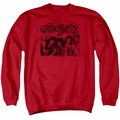 Aerosmith adult crewneck sweatshirt Old Photo red