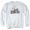 Aerosmith adult crewneck sweatshirt Pump white