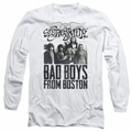 Aerosmith adult long-sleeved shirt Bad Boys white