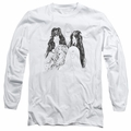 Aerosmith adult long-sleeved shirt Draw The Line white