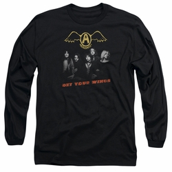 Aerosmith adult long-sleeved shirt Get Your Wings black