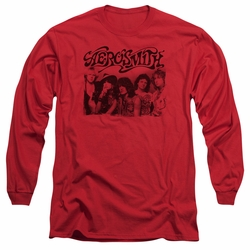Aerosmith adult long-sleeved shirt Old Photo red