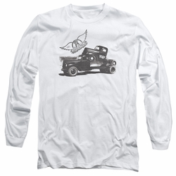 Aerosmith adult long-sleeved shirt Pump white