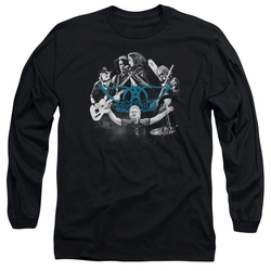 Aerosmith adult long-sleeved shirt Rock N Round black