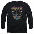 Aerosmith adult long-sleeved shirt Triangle Stars black