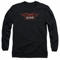 Aerosmith adult long-sleeved shirt Winged Logo black