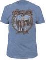 Aerosmith dream on fitted jersey tee heather blue t-shirt pre-order