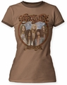 Aerosmith Dream On juniors ringer tee light brown/espresso womens pre-order