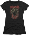 Aerosmith juniors sheer t-shirt Let Rock Rule black
