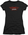 Aerosmith juniors sheer t-shirt Winged Logo black