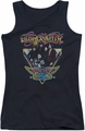 Aerosmith juniors tank top Triangle Stars black