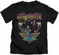 Aerosmith kids t-shirt Triangle Stars black