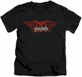 Aerosmith kids t-shirt Winged Logo black