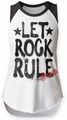 Aerosmith Let Rock Rule juniors sleeveless raglan white/black womens pre-order