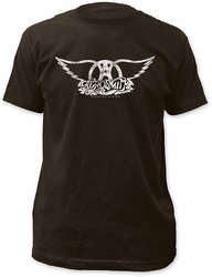 Aerosmith logo fitted jersey tee coal t-shirt pre-order