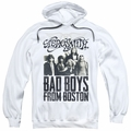 Aerosmith pull-over hoodie Bad Boys adult white