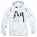 Aerosmith pull-over hoodie Draw The Line adult white