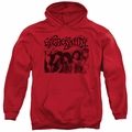 Aerosmith pull-over hoodie Old Photo adult red