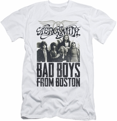 Aerosmith slim-fit t-shirt Bad Boys mens white