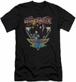 Aerosmith slim-fit t-shirt Triangle Stars mens black