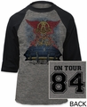 Aerosmith stadium tour '84 baseball jersey athletic heather/black shirt pre-order
