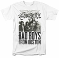 Aerosmith t-shirt Bad Boys mens white