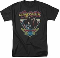 Aerosmith t-shirt Triangle Stars mens black