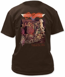 Aerosmith toys in the attic adult tee dark chocolate t-shirt pre-order