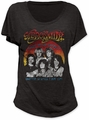 Aerosmith u.s. tour '84 women's dolman black shirt pre-order
