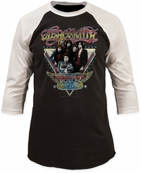 Aerosmith world tour baseball jersey black/white shirt pre-order