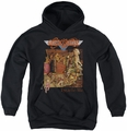 Aerosmith youth teen hoodie Toys black