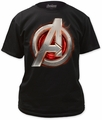 Age of Ultron avengers assemble adult tee black t-shirt