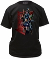 Age of Ultron avengers gang adult tee black t-shirt