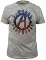 Age of Ultron good over evil fitted jersey tee heather grey t-shirt