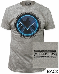 Agents of S.H.I.E.L.D. fitted jersey tee heather grey t-shirt