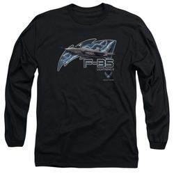 Air Force adult long-sleeved shirt F35 black