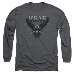 Air Force adult long-sleeved shirt Incoming charcoal