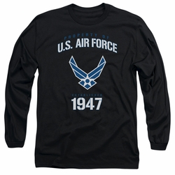 Air Force adult long-sleeved shirt Property Of black