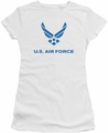 Air Force juniors sheer t-shirt Distressed Logo white