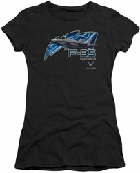 Air Force juniors sheer t-shirt F35 black