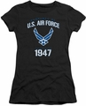 Air Force juniors sheer t-shirt Property Of black