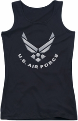 Air Force juniors tank top Logo black