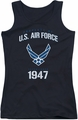 Air Force juniors tank top Property Of black