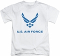 Air Force kids t-shirt Distressed Logo white