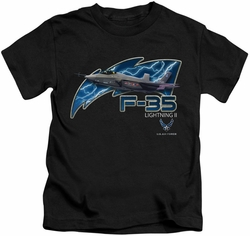 Air Force kids t-shirt F35 black