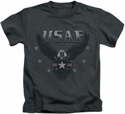 Air Force kids t-shirt Incoming charcoal