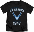 Air Force kids t-shirt Property Of black