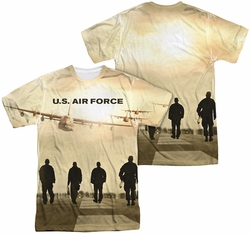 Air Force mens full sublimation t-shirt Long Walk